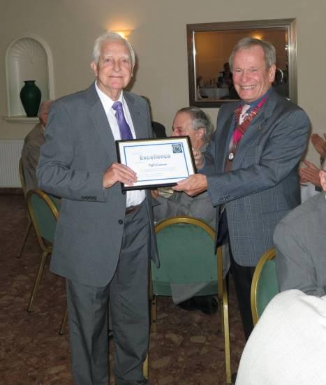 Cliff Receiving the Award